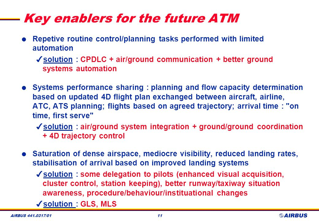 Key enablers for the future ATM