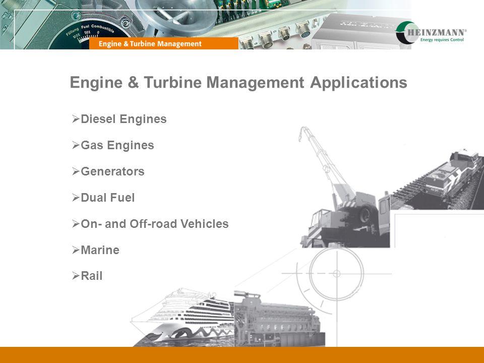 Engine & Turbine Management Applications