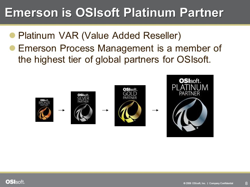 Emerson is OSIsoft Platinum Partner