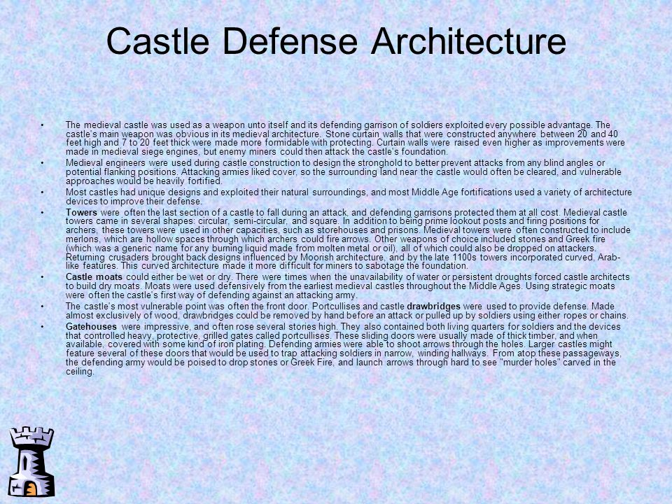 Castle Defense Architecture