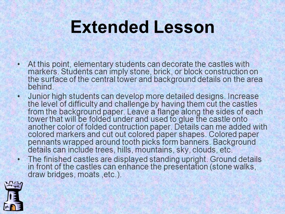 Extended Lesson