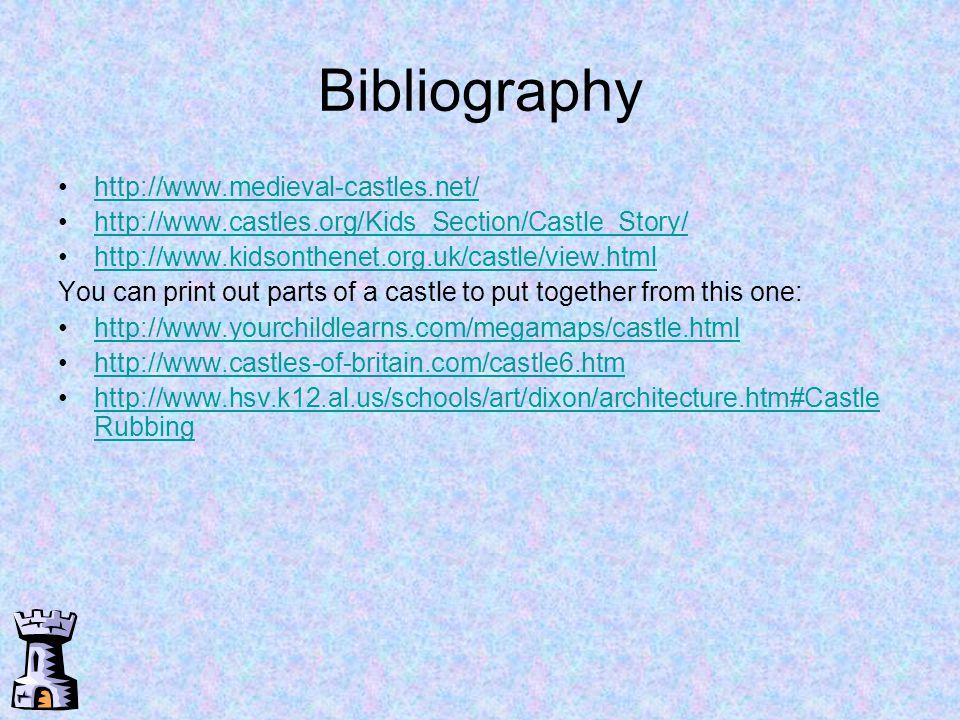 Bibliography http://www.medieval-castles.net/