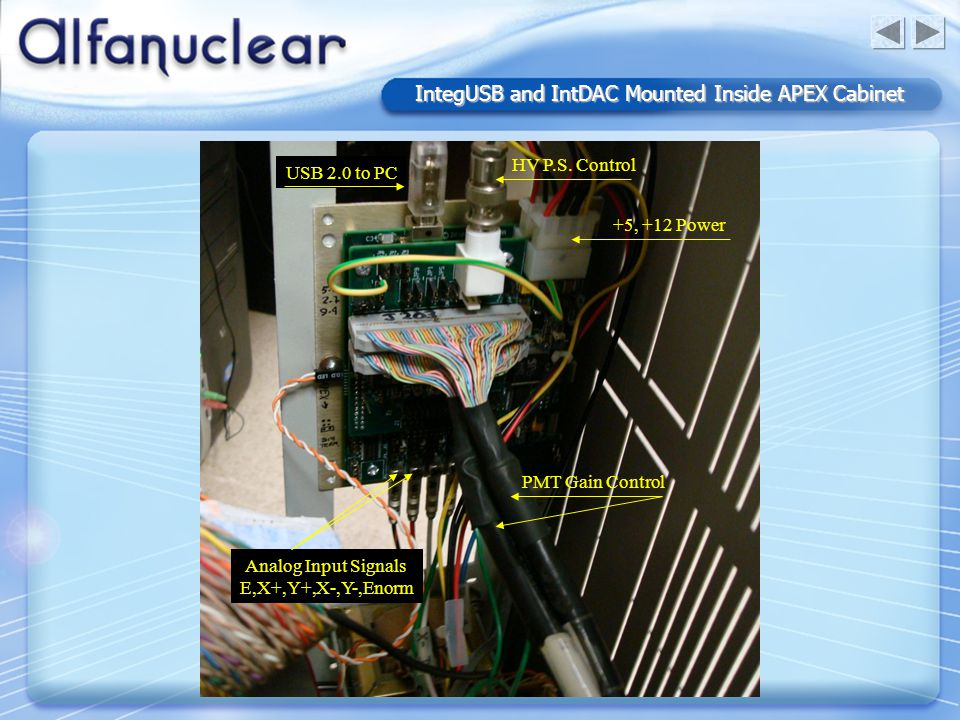 IntegUSB and IntDAC Mounted Inside APEX Cabinet