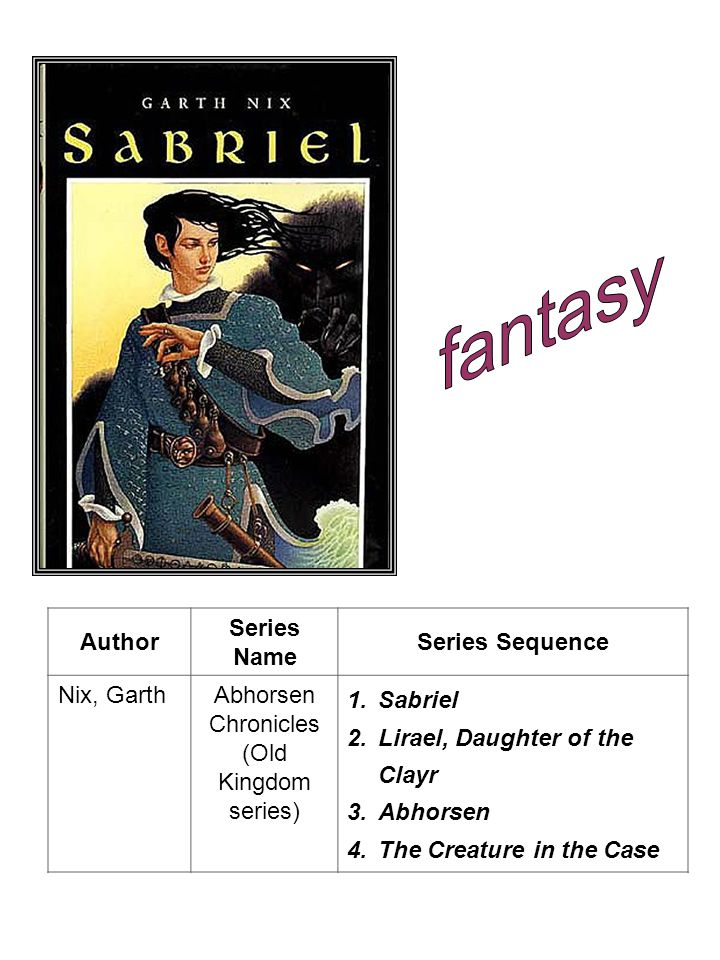 fantasy Author Series Name Series Sequence Nix, Garth