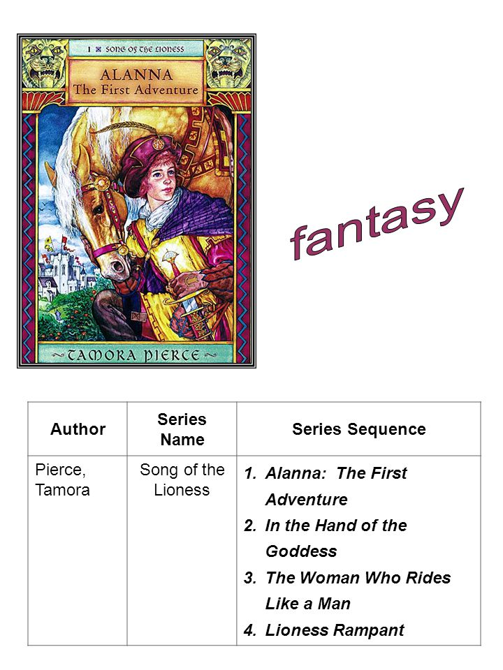 fantasy Author Series Name Series Sequence Pierce, Tamora