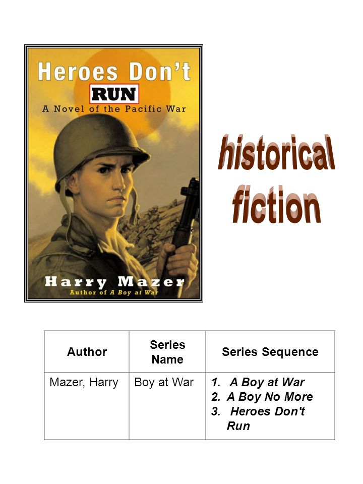historical fiction Author Series Name Series Sequence Mazer, Harry