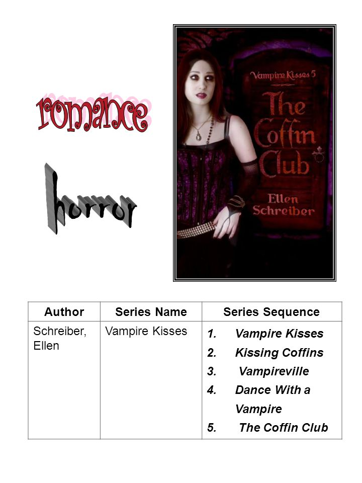 romance horror Author Series Name Series Sequence Schreiber, Ellen