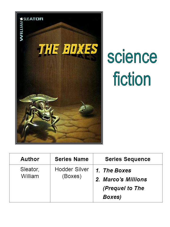 science fiction Author Series Name Series Sequence Sleator, William