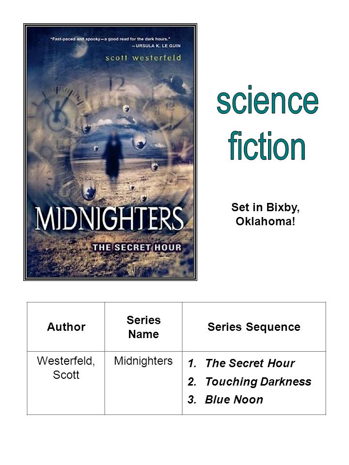 science fiction Set in Bixby, Oklahoma! Author Series Name