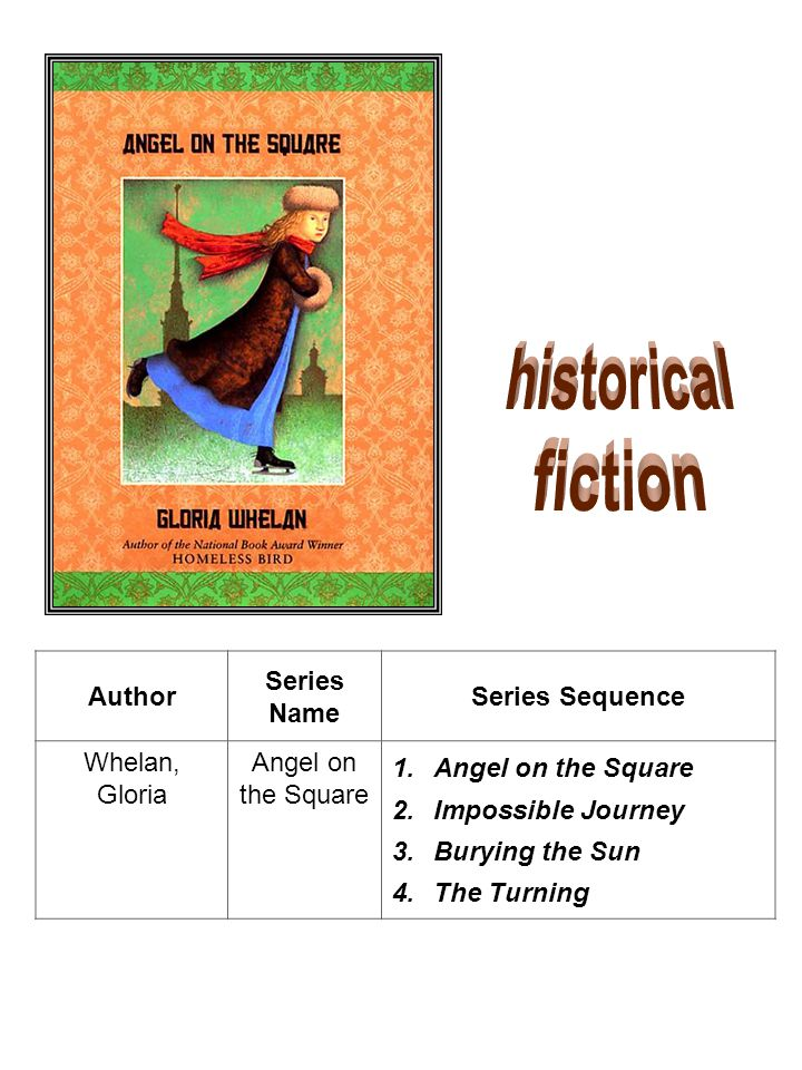 historical fiction Author Series Name Series Sequence Whelan, Gloria