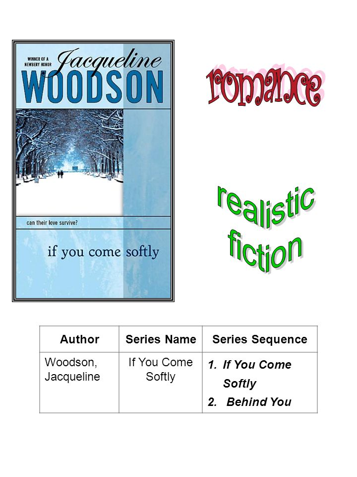 romance realistic fiction Author Series Name Series Sequence