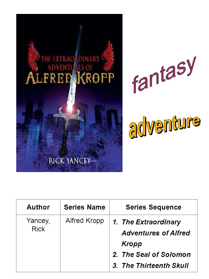 fantasy adventure Author Series Name Series Sequence Yancey, Rick