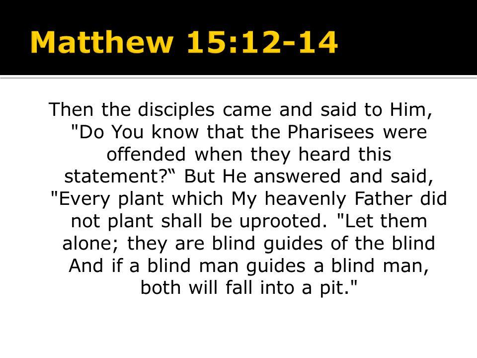 Matthew 15:12-14