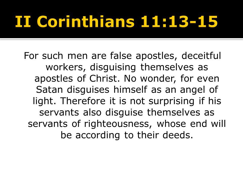 II Corinthians 11:13-15