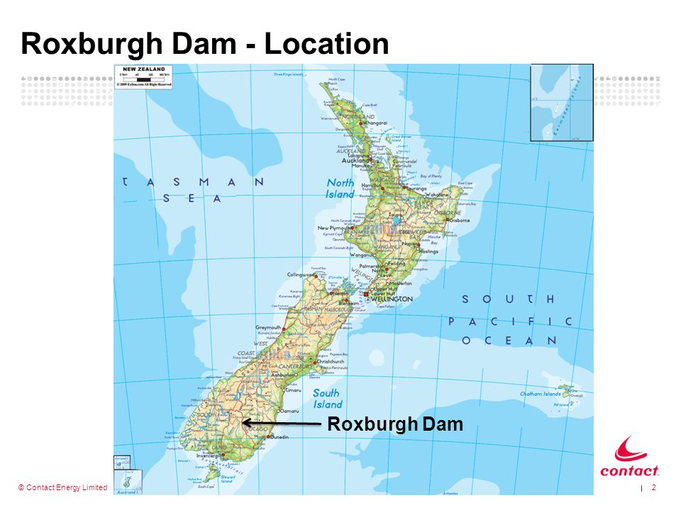 Roxburgh Dam - Location