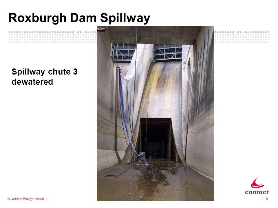 Roxburgh Dam Spillway Spillway chute 3 dewatered