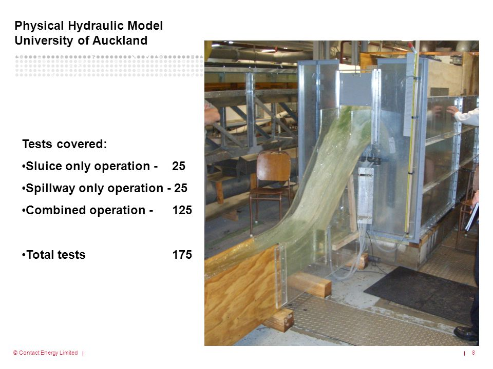 Physical Hydraulic Model University of Auckland