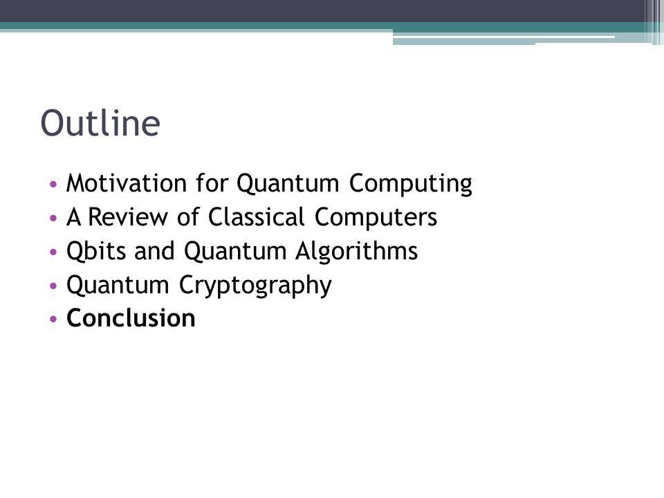 Outline Motivation for Quantum Computing