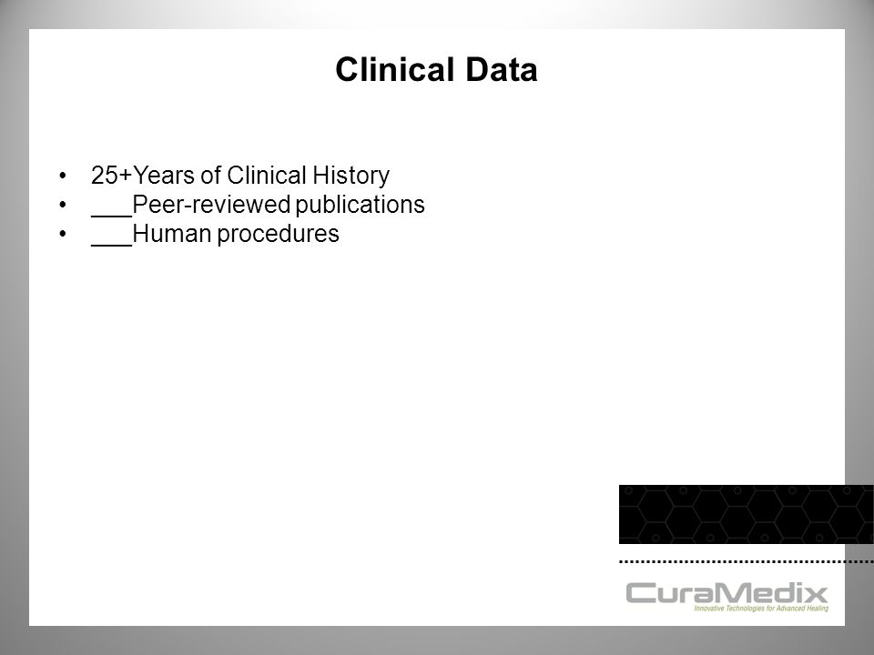Clinical Data 25+Years of Clinical History