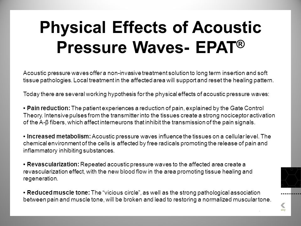 Physical Effects of Acoustic Pressure Waves- EPAT®