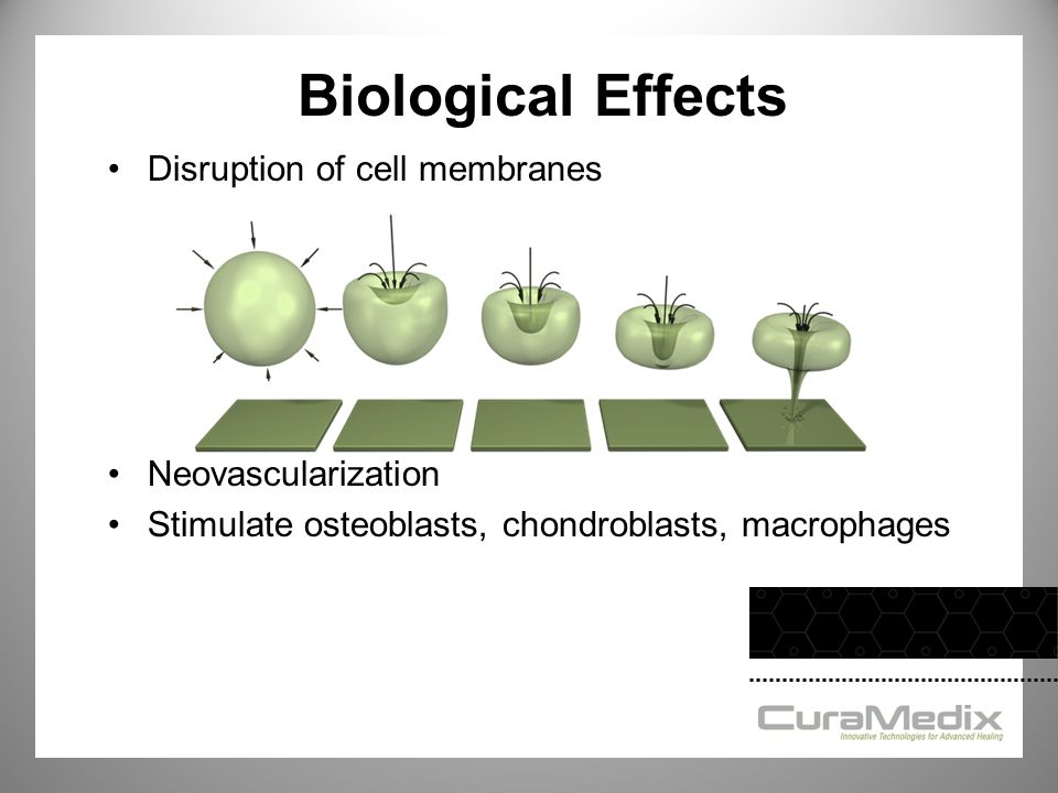 Biological Effects Disruption of cell membranes Neovascularization