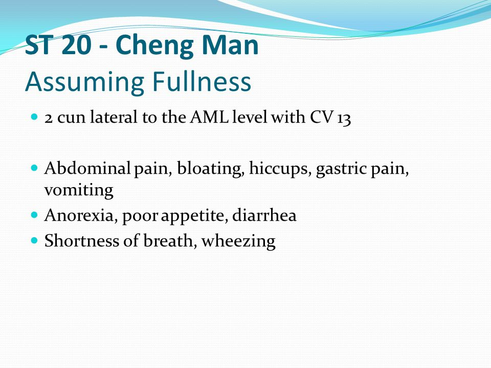 ST 20 - Cheng Man Assuming Fullness