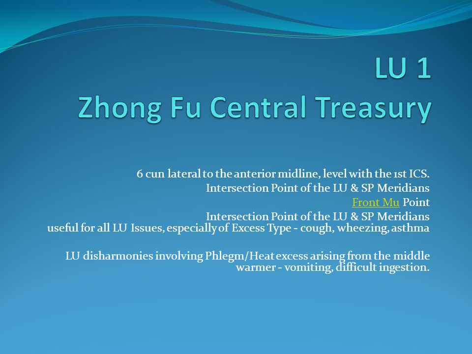 LU 1 Zhong Fu Central Treasury