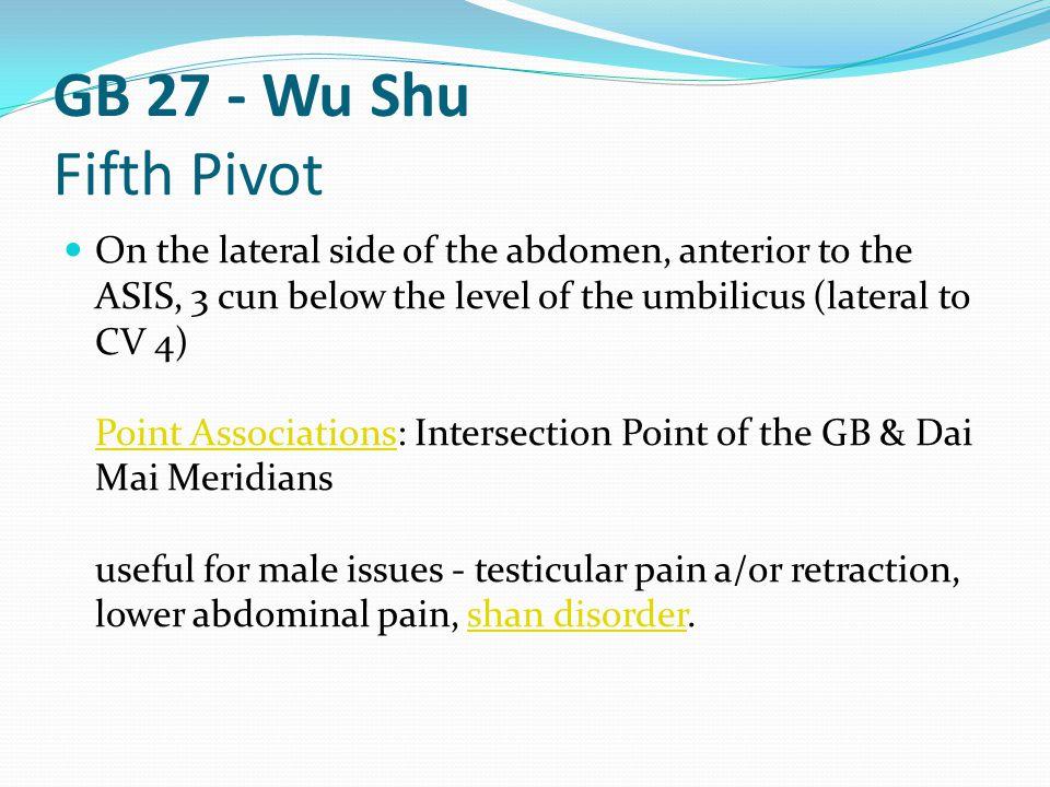 GB 27 - Wu Shu Fifth Pivot