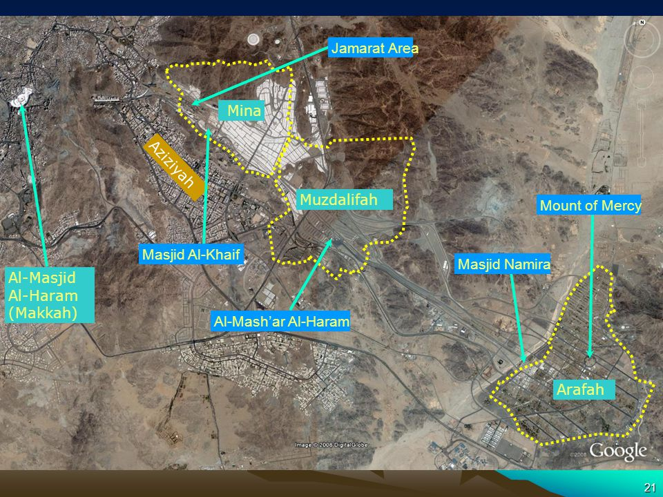 Hajj Sites – Satellite Picture