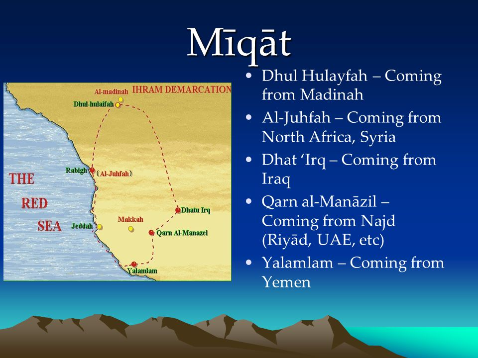 Mīqāt Dhul Hulayfah – Coming from Madinah