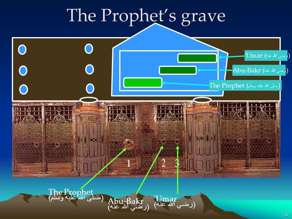 The Prophet's grave The Prophet (صلى الله عليه وسلم) Umar Abu-Bakr