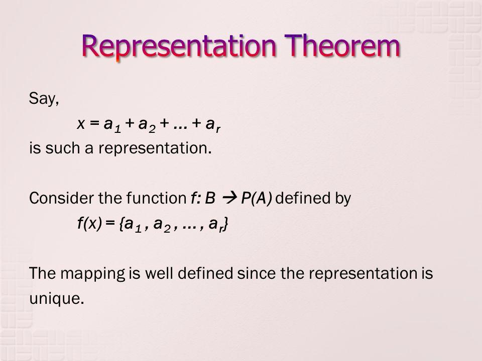 Representation Theorem