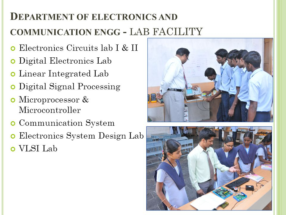 Department of electronics and communication engg - LAB Facility