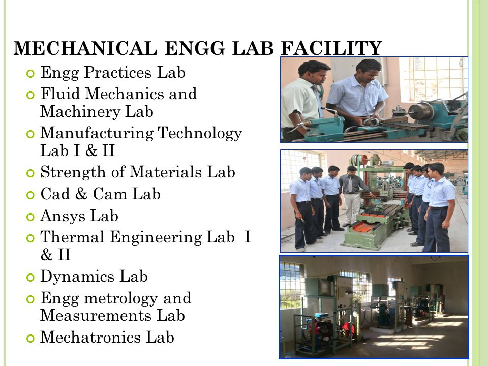 MECHANICAL ENGG LAB Facility
