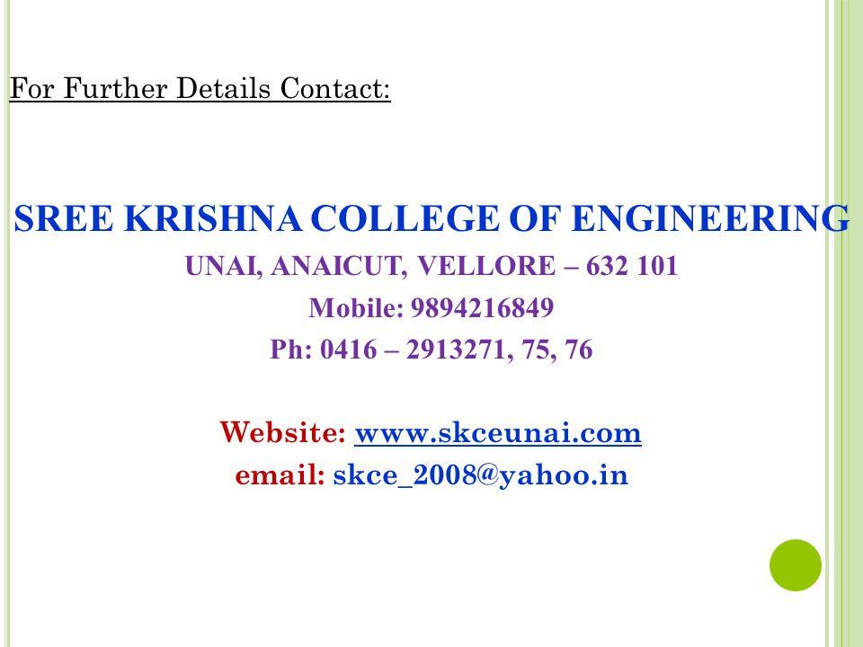 SREE KRISHNA COLLEGE OF ENGINEERING