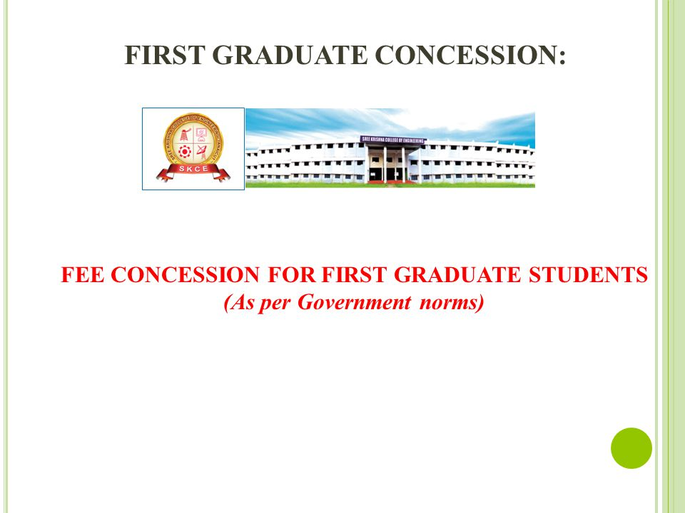 FIRST GRADUATE CONCESSION: