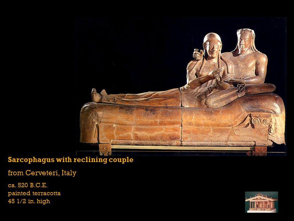 Sarcophagus with reclining couple from Cerveteri, Italy