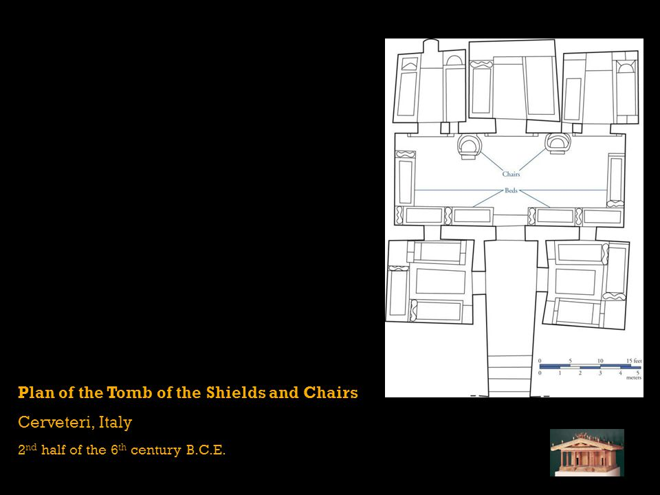 Plan of the Tomb of the Shields and Chairs Cerveteri, Italy