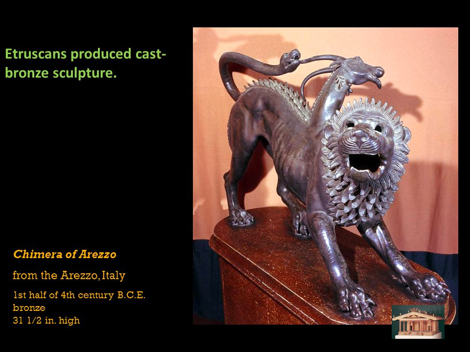 Etruscans produced cast-bronze sculpture.
