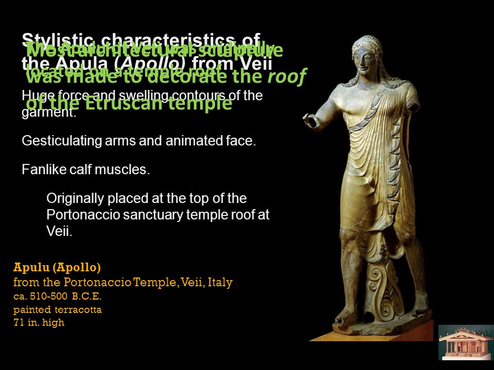Stylistic characteristics of the Apula (Apollo) from Veii