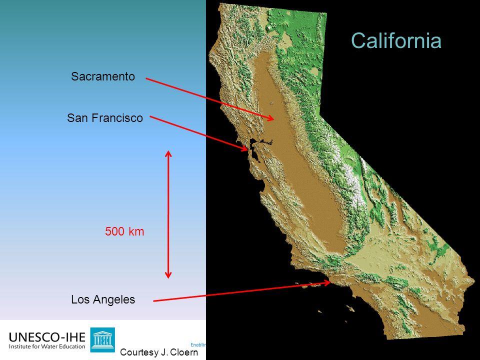 California California Sacramento San Francisco 500 km Los Angeles