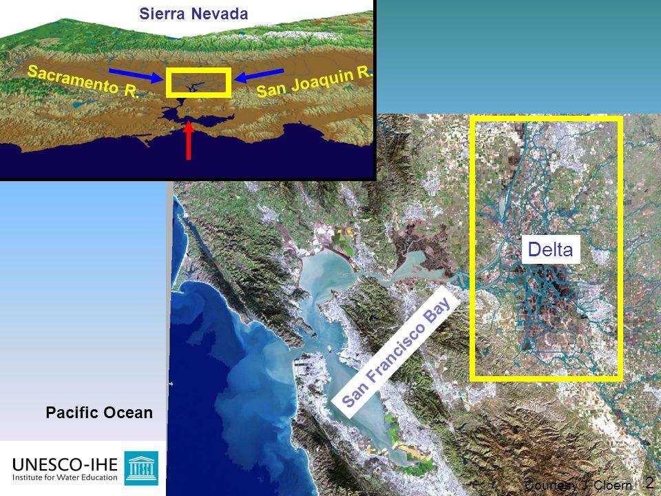 Delta Sierra Nevada Sacramento R. San Joaquin R. San Francisco Bay