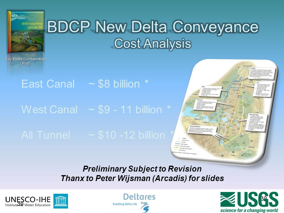 BDCP New Delta Conveyance Cost Analysis