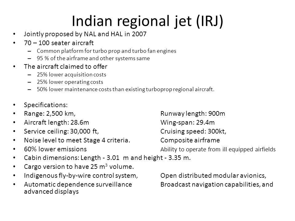 Indian regional jet (IRJ)