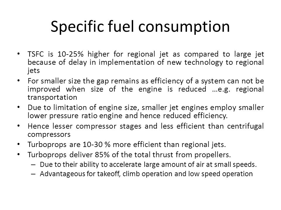 Specific fuel consumption