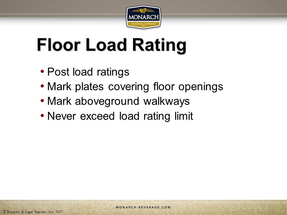 Floor Load Rating Post load ratings