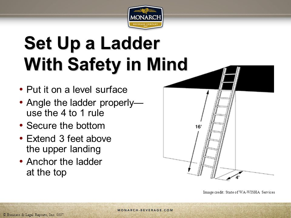 Set Up a Ladder With Safety in Mind