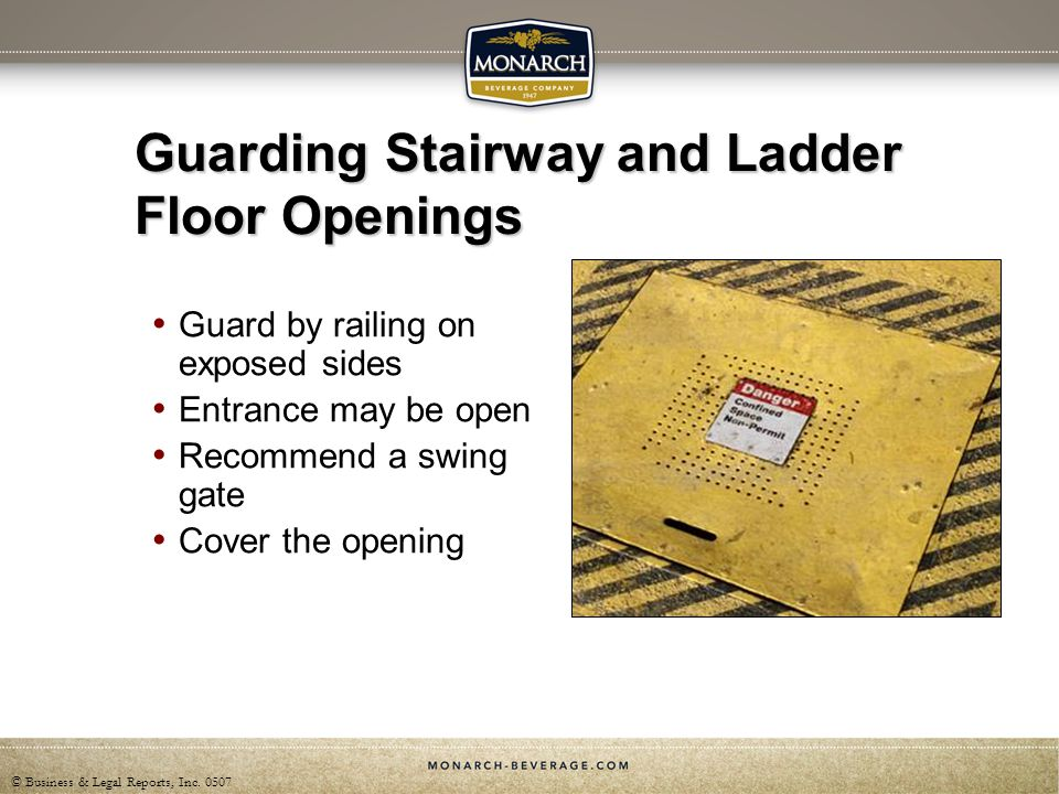 Guarding Stairway and Ladder Floor Openings