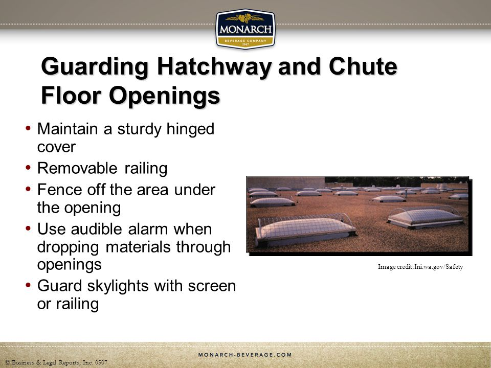 Guarding Hatchway and Chute Floor Openings