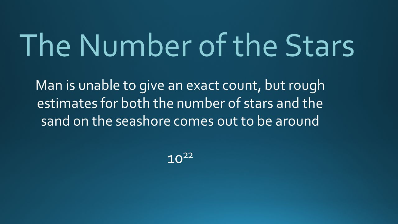 The Number of the Stars